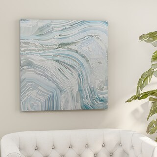 Porch & Den 'Agate in Blue II' Premium Gallery-wrapped Canvas Wall Art