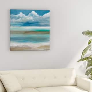 Porch & Den Ruane Manning 'Tranquility By The Sea I' Gallery-wrapped Canvas Wall Art