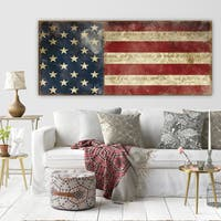 Porch & Den Carol Robinson 'I Pledge Allegiance' Premium Gallery Wrapped Canvas Art (3 Sizes Available)