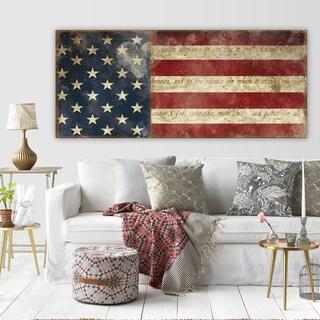 Copper Grove Carol Robinson 'I Pledge Allegiance' Premium Gallery Wrapped Canvas Art (3 Sizes Available)
