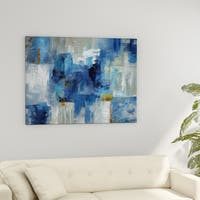 Porch & Den 'Blue Morning' Premium Gallery Wrapped Canvas Wall Art