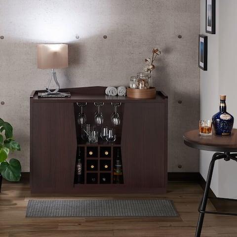 Furniture of America Pigg Contemporary Brown 2-cabinet Dining Server
