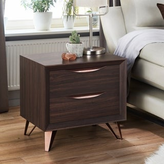 Furniture of America Taliyah Contemporary Glam 2-drawer Nightstand