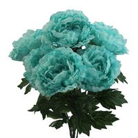 7 Stems Faux Full Blooming Peony Flower Bush