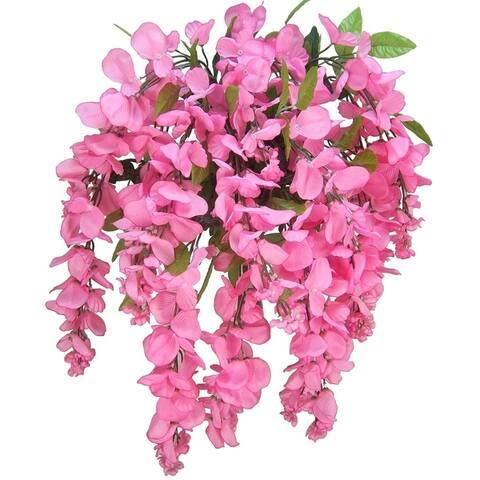 15 Stems Wisteria Long Hanging Bush Flowers