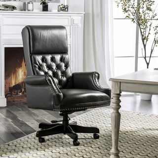 Furniture of America Tees Transitional Leather Gel Tufted Office Chair