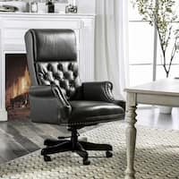 Furniture of America Eries Leather Gel Tufted Adjustable Office Chair