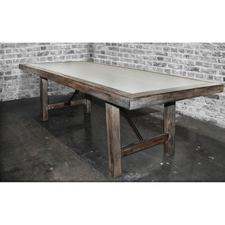 "SOLIS Aperto 78"" Solid Wood With Concrete Conference Dining Table"