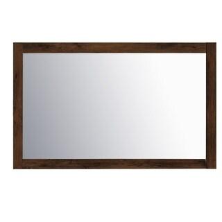 "Eviva Sun 48"" Rosewood Mirror"