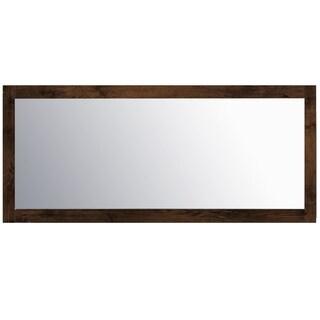 "Eviva Sun 72"" Rosewood Mirror"