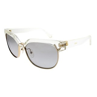 Chloe Square CE 666S 971 Women Crystal Gold Frame Grey Gradient Lens Sunglasses