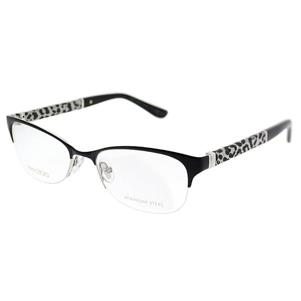 8b4a8d472f57 Jimmy Choo Semi-Rimless JC 106 J9B Women Matte Black Frame Eyeglasses