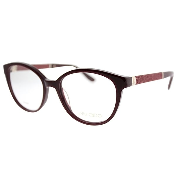 404258e1968e Shop Jimmy Choo Round JC 118 KMN Women Burgundy Frame Eyeglasses ...