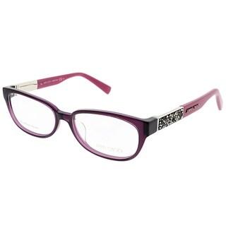 Jimmy Choo Rectangle JC 114F Asian Fit HDO Women Purple Frame Eyeglasses