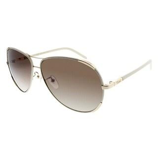 Chloe Aviator CE 100SL 729 Women Gold Cream Frame Brown Gradient Lens Sunglasses