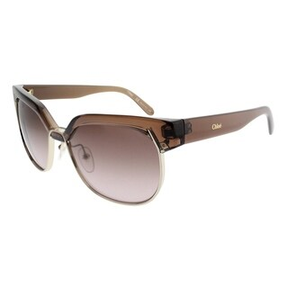 Chloe Square CE 666S 210 Women Amber Brown Frame Brown Gradient Lens Sunglasses