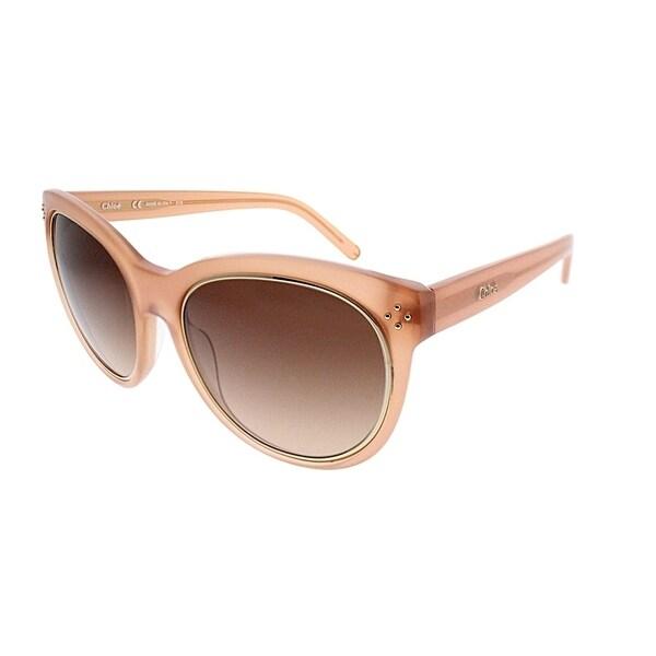 a95e9dd3821 Chloe Cat-eye CE 690S 749 Women Light Pink Frame Brown Gradient Lens  Sunglasses