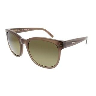 Chloe Square CE 692S 272 Women Turtledove Frame Brown Gradient Lens Sunglasses