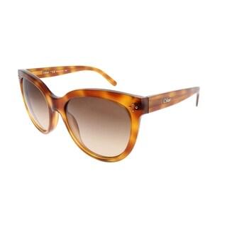 Chloe Cat-eye CE 705S 725 Women Blonde Havana Frame Brown Gradient Lens Sunglasses