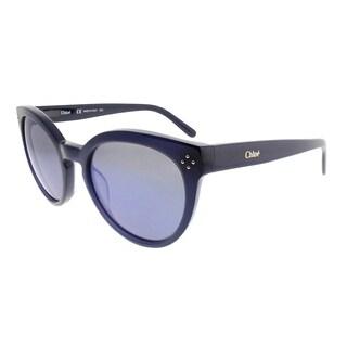Chloe Round CE 691S 424 Women Blue Frame Blue Gradient Lens Sunglasses