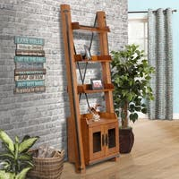 OS Home and Office Furniture Model 33252 Two Door Ladder Bookcase