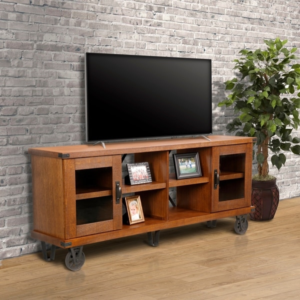 Os Home 70 Inch Tv Console With Gl Doors