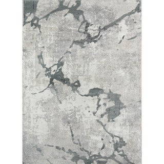 "Momeni Matrix Halden Grey Abstract Area Rug - 7'6"" x 9'6"""
