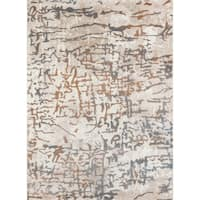 "Momeni Matrix Reedley Copper/ Ivory/ Grey Abstract Area Rug - 7'6"" X 9'6"""