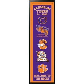 14x37 Team Collegiate Logo Felt Banner with Custom Frame