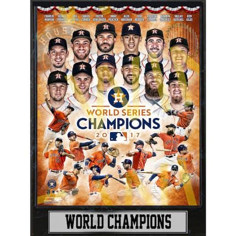 9x12 Plaque - 2017 World Series Champions Houston Astros