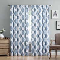 Truly Soft Everyday Annika Damask Printed Curtain Panel Pair