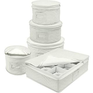 Sorbus 5-Piece Dinnerware Storage Set