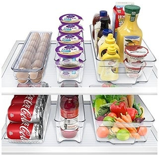 Sorbus Fridge Bins and Freezer Stackable Storage Containers (6 Pack Set)