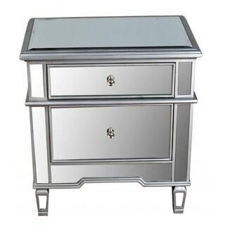 Best Master Furniture 2 Drawer Mirrored Nightstand