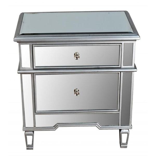 Merveilleux Best Master Furniture 2 Drawer Mirrored Nightstand