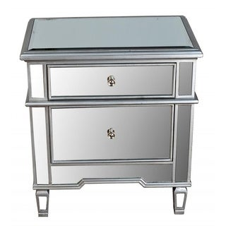 Best Master Furniture FRA2011 2 Drawer Mirrored Nightstand
