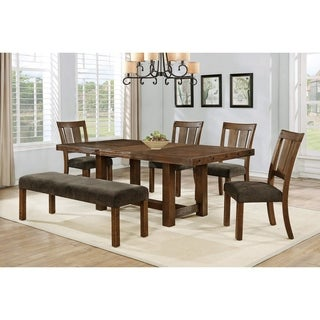 Best Master Furniture Seaweed Green/Walnut-finish Wood 6-piece Dining Set