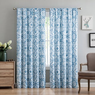 Truly Soft Everyday Marcello Scroll Printed Curtain Panel Pair