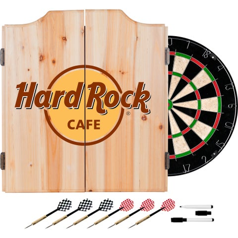 Hard Rock Cafe Dart Cabinet Set with Darts and Board - Record