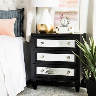 Safavieh Marlon 3-Drawer Black Storage Chest