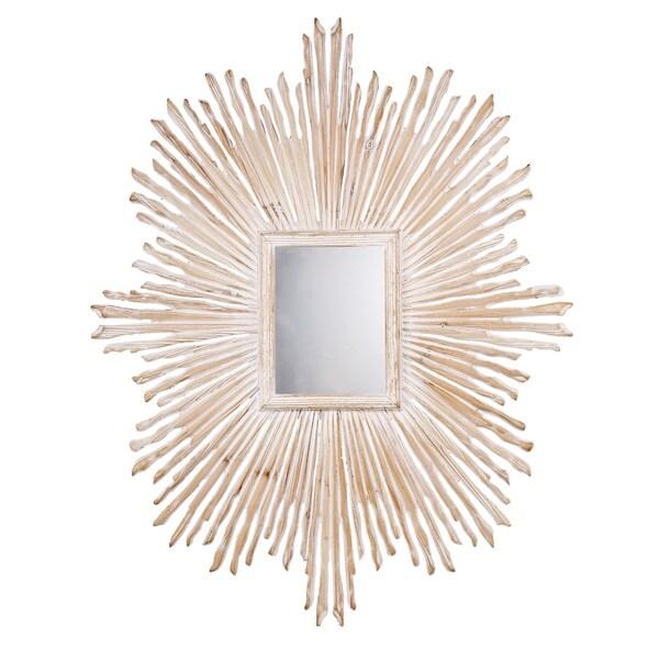 "Zwer Ray Mirror, 39.5x31.5"" - Champagne - A"