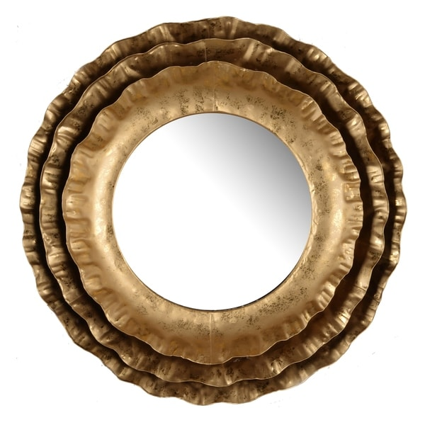 """Ashlyn Round Mirror, 16x2.5"""" - Gold - A"""