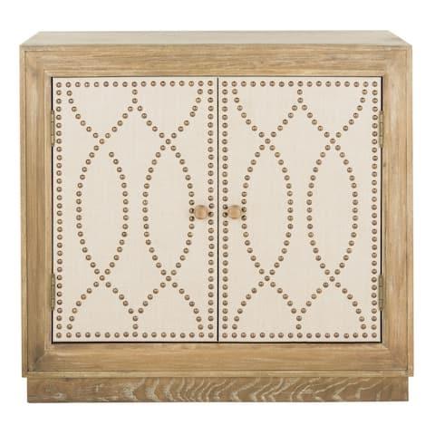 SAFAVIEH Yuna 2-Door Oak Storage Chest