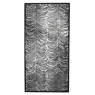 Herero Antique Black Hardwood 80-inch x 40-inch x 2.5-inch Curtained Decorative Mirror