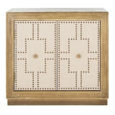 SAFAVIEH Azuli 2-Door Oak Storage Chest
