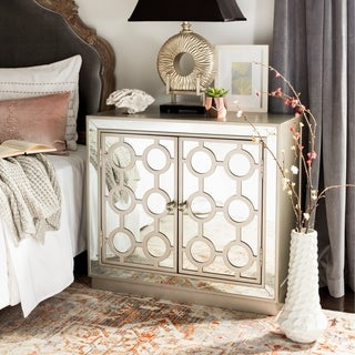 Safavieh Kaia 2-Door Nickel Storage Chest