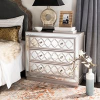 Safavieh Amelia 3-Drawer Nickel Storage Chest