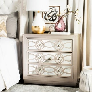 Safavieh Catalina 3-Drawer Nickel Storage Chest