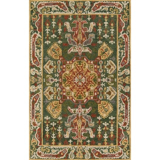 Hand-Tufted Kasbah Averline Green Wool Rug (9'6x 13'6)