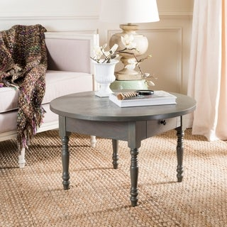 Safavieh Knope Round Distressed Ash Grey Coffee Table